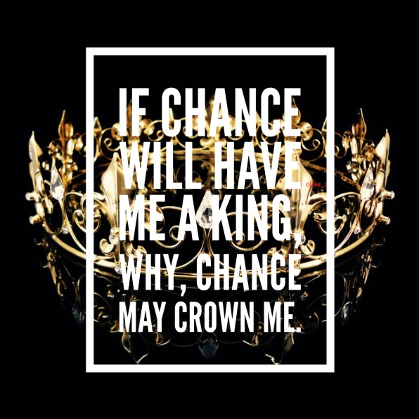 CHANCE MAY CROWN ME